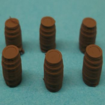 N Scale Barrels (pack of 6)